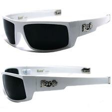 Locs hombre Cholo motero gafas Sol de Diseñador - negro mate Lc77