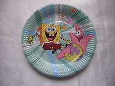 10 Children Kids Boys Birthday Party Plates Tableware Decorations Sponge Bob