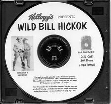 WILD BILL HICKOK - 246 Shows Old Time Radio In MP3 Format OTR On 2 CDs
