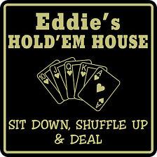 Poker Game Room Sign Cards Holdem Gift Bar Beer Personalized Custom Name  #10