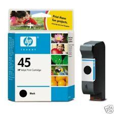 ORIGINAL HP 45 51645AE 42ML BLACK INK CARTRIDGE 2 YR GTEE 1ST CLASS FAST POSTAGE