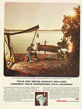 Publicité Advertising 1965  JOHNSON moteur de bateau