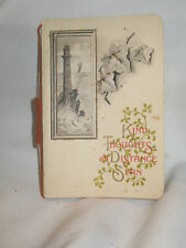 Vintage Christmas Card Kind Thoughts all Distance Span Late 1800's
