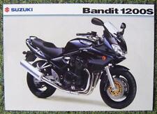 SUZUKI BANDIT 1200S MOTORCYCLE SALES SHEET FEBRUARY 2003 REF- 1200S-LEAF