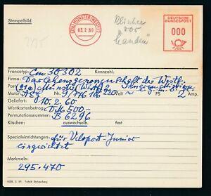 S2435) Francotyp AFS Stammkarte 1960 Münster Darl.-Geno. der Inneren Mission