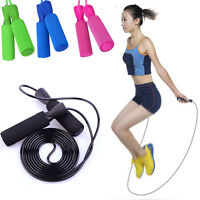 Speed Skipping Jump Rope Adjustable Fitness Wire Crossfit Exercise Gym Boxing