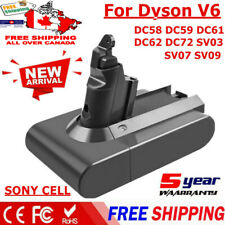 21.6V 4000mAh Li-ion Battery for Dyson Absolute V6 DC58 DC59 DC61 SV03 SV06 Tool