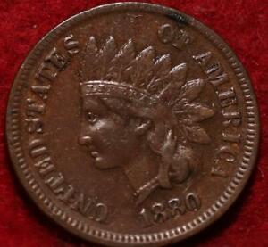 1880  Philadelphia Mint  Indian Head Cent