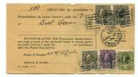 $1.75c Admiral Householder receipt for 350 circulars 1927, 3x50c Canada