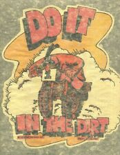 DO IT IN THE DIRT  authentic vintage 70s iron on t shirt transfer NOS