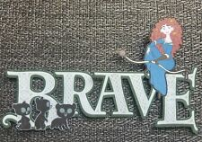Disney  Brave title printed scrapbook page die cut