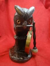 Wooden Owl with Gong