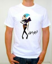 LADY GAGA CARTOON WHITE COTTON T-SHIRT ADULT SIZE MEDIUM