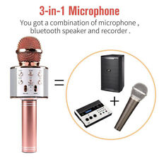 Karaoke Microphone Wireless With Bluetooth Speaker iPhone Android PC for Singing