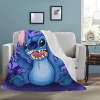 Ultra-Soft Micro Fleece Throw Blanket Lilo and Stitch Sofa Blanket