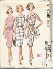 McCall's Sewing Pattern 6267, Vintage Dress, Size 18, Bust 38