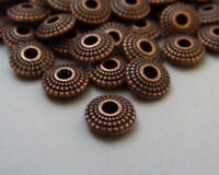 Antiqued Copper 8mm Saucer Spacer Beads B5937 - 20, 50 Or 100PCs