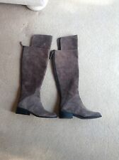 NINE WEST BRAND NEW BOOTS OVER THE KNEE GREY SUEDE SIZE 3 USA 5M