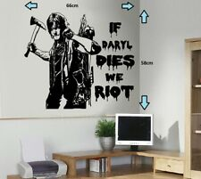The Walking Dead/Norman Reedus Daryl Dixon Zombies Wall Art Sticker/Decal
