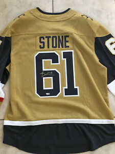 MARK STONE Vegas Golden Knights Autographed Gold Fanatics Breakaway Jersey