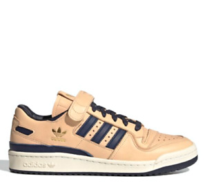 Adidas Original Forum 84 low Blue Thread Men's Shoes Beige Gold Foil FY7792