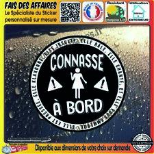 Stickers Autocollant adhésif connasse à bord humour decal danger sécurité blague