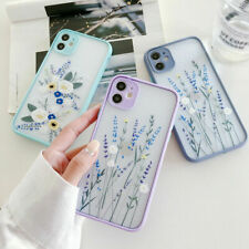 For iPhone 12 11 Pro Max XS XR X 8 7 Plus SE Flower Leaf Hard Phone Case Cover