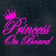 Princess On Board Car Decal Vinyl Sticker For Bumper Panel Window