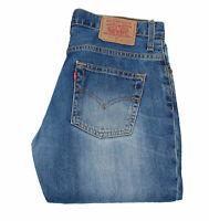 26197 Levi's 516 04 Bootcut Bleu Hommes Jean En Taille 32 (Entrejambe 74.3cm)