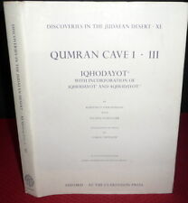Qumran Caves Hodayot Manuscripts. Dead Sea Scrolls .Archaeology, Judaica