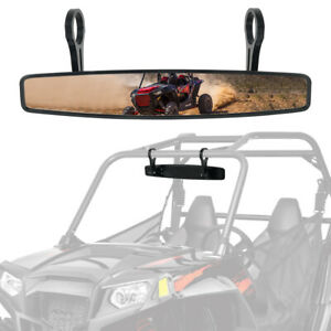 """For UTV with 1.75"""" Roll Bars Rear View Mirror Center Mirror 14.8"""" Length"""
