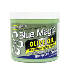 Blue Magic Olive Oil Leave-in Styling Conditioner Non-Greasy Formula 13.75oz