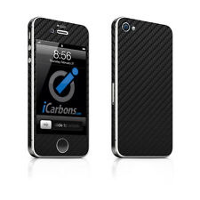 iPhone 4S Skin - Black Carbon Fibre skin by iCarbons