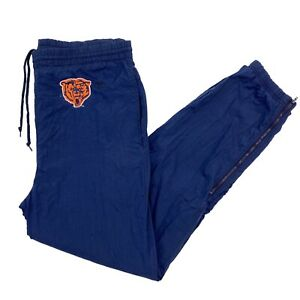 Vintage NFL Champion Chicago Bears Track Pants Blue Small RARE