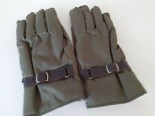 Ladies green fur lined gloves