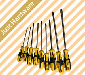 Expert Quality Screwdriver Magnetic CRV Screw Driver Set 4 6 8 x100 125 150 200