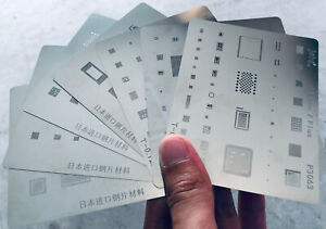 IC Repair BGA Reballing Stencil Template For iPhone 6 6 6S 6S Plus 7 7+ 8 X iPad