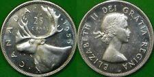 1959 Canada Silver Quarter Graded as Brilliant Uncirculated From Original Roll