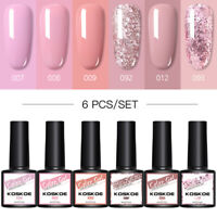 KOSKOE 6 Bottles 8ml Smalto UV per Unghie Gel Nail Art Gel Polish Soak off Kit
