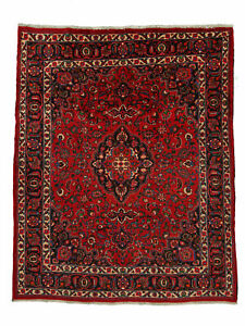 "Hand-Made  8'9"" x 10'10"" Mash-had Hand-Knotted Wool 8X10 Area Rug"