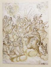 c1780 Karl Borromäus Carlo Borromeo Maria mit Heiligen Federzeichnung