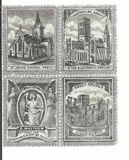 Great Britain Scottish Sunday School stamps 1890's se-tenant block 4, St Johns