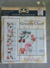 Australian Animal & Bird Growth Chart 21 x 88cm 14ct aida
