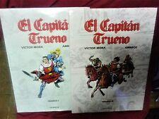 EL CAPITÁN TRUENO por Victor Mora y Ambrós COLECCIÓN COMPLETA 2 libros lujo 1994
