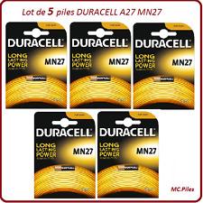 Lot de 5 piles MN27, A27 12V Duracell, livraison rapide et gratuite