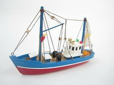 Blue Dolphin Starter Boat Kit: Build Your Own Fishing Boat Wooden Model Ship