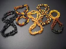 Lot 10 Natural Raw Baltic Amber Baby Necklace Mix Color 30-33cm