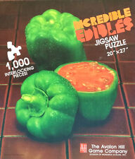 NEW 1986 Avalon Hill Incredible Edibles 1000 pc Jigsaw Puzzle PEPPER TOMATO Mint