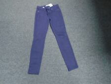 RICH AND SKINNY Dark Purple Cotton Blend Low Rise Skinny Jeans Size 27 DD2831