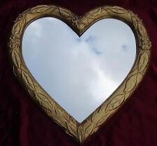 Espejo de Pared Corazón Amorosa Forma Barroco Oro Regalo Amor Nuevo 12
